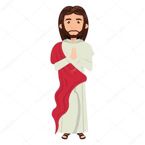 Jesucristo hombre de dibujos animados — Archivo Imágenes ...