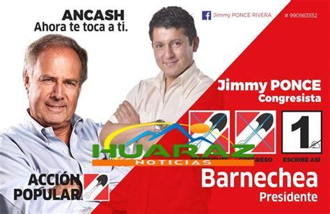 Jimmy Ponce vocero oficial de Acción Popular