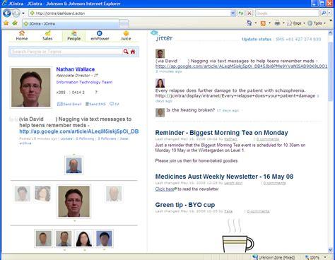 Jitter: Experimenting with microblogging in the enterprise ...