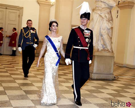 Joaquín y Marie de Dinamarca en la cena de Estado en honor ...