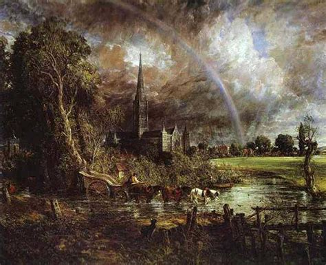 John Constable   Salisbury Cathedral from the Meadows ...