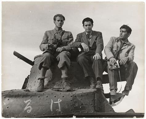 [John Fernhout, Joris Ivens, and Robert Capa on a Japanese ...