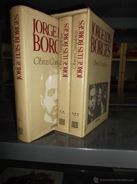 jorge luis borges obras completas 3 tomos en es - Comprar ...