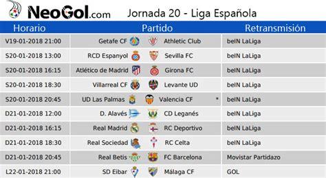 Jornada 20 Liga Española 2018 | Partidos y horarios