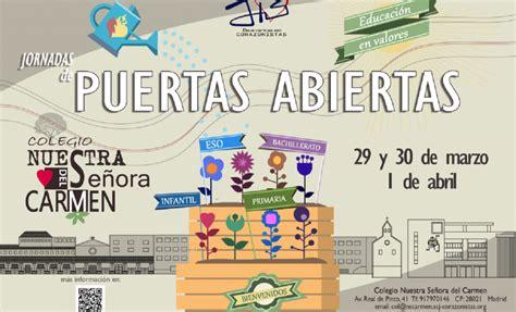 Jornadas de Puertas Abiertas | Colegio Nuestra Señora del ...