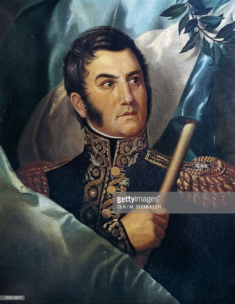 Jose De San Martin General And Argentinean Politician ...
