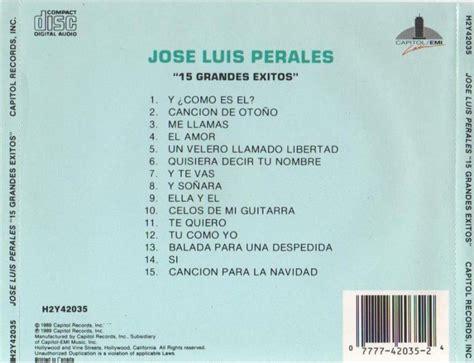 JOSE LUIS PERALES   15 GRANDES EXITOS   1987   OMAR LONGHI