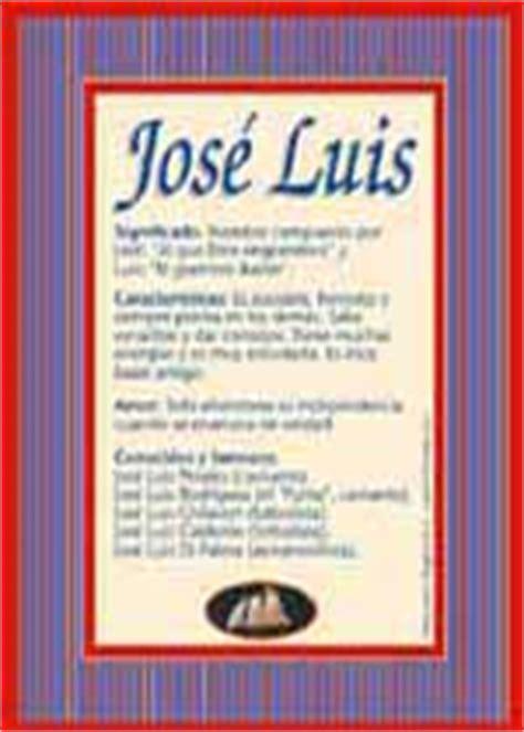 José Luis, significado del nombre José Luis   TuParada.com