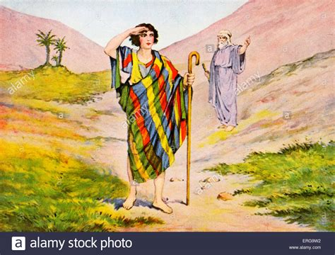 Joseph and his coloured coat - after illustation by J ...