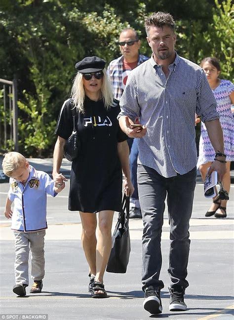 Josh Duhamel escorts wife Fergie son axl church | Daily ...