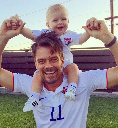 Josh Duhamel posts cute pic with son Axl in matching ...