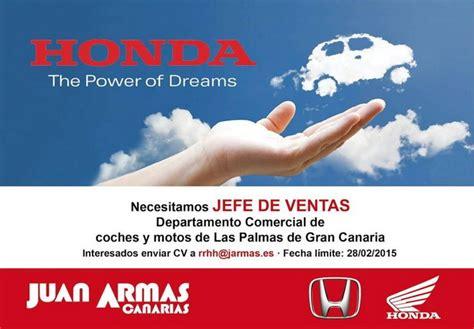 Juan Armas Canarias busca Jefe de Ventas para motos y ...