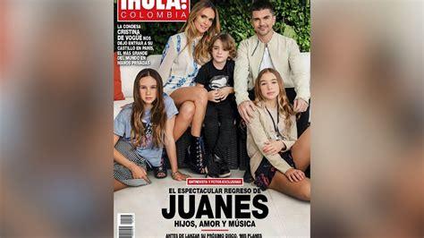 Juanes y su familia en la portada de revista Hola | Telemundo