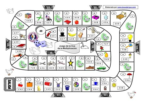 juego-de-la-oca-multiplicacion : fantástico juego de la ...