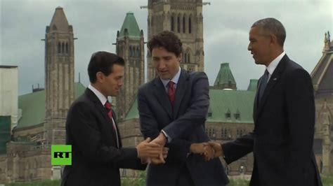 ¿Juego de manos?: Enrique Peña Nieto, Obama y Trudeau en ...