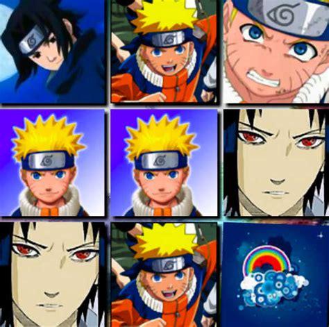 Juego de memoria con Naruto   Juegos