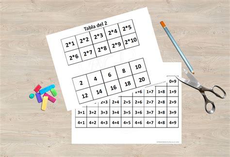 Juego de memoria para imprimir. Sumas fáciles y tablas de ...