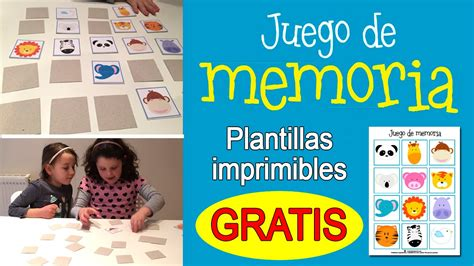 Juego de memoria para niños: Memory game - YouTube