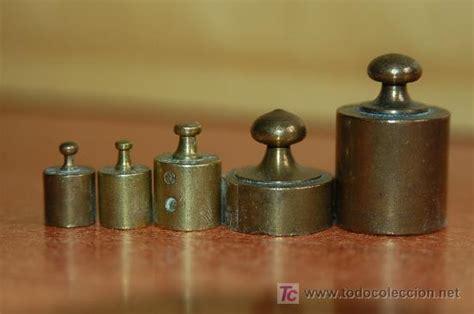 juego de pesas para balanza en bronce , antig   Comprar ...