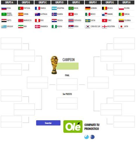 Juego: Haga su pronóstico del Mundial Rusia 2018 y ...