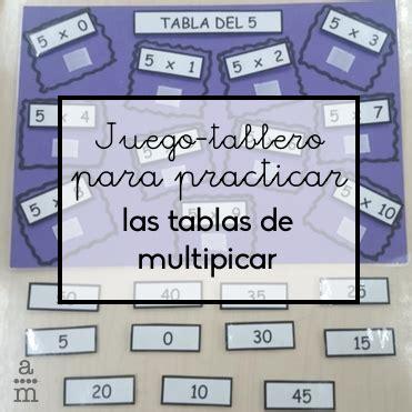 Juego-tablero para practicar las tablas de multiplicar ...