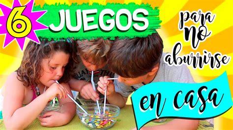 JUEGOS CASEROS DIY * 6 ideas para NO ABURRIRSE en casa ...