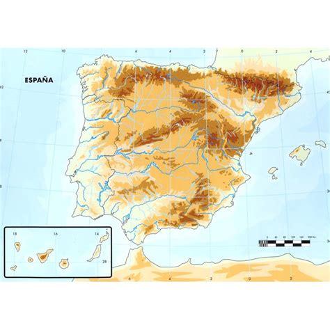 Juegos de Geografía | Juego de Mapa físico de España ...
