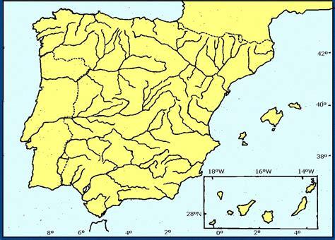 Juegos de Geografía | Juego de Mapa Mudo: Ríos de España ...