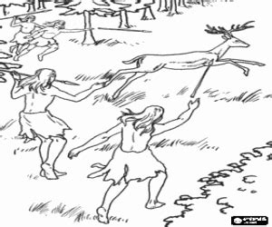 Juegos de Prehistoria para colorear, imprimir y pintar #2