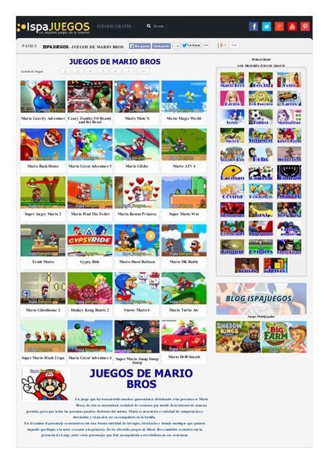 Juegos Gratis | Juegos Gratis de mario bros gratis