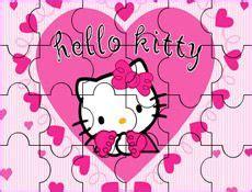 JuegosKitty.com - Juego: Puzzle Corazones Hello Kitty ...
