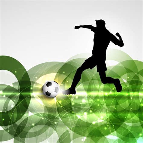 Jugador de fútbol en un fondo abstracto   Descargar ...