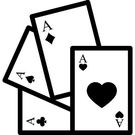 Jugando a las cartas con corazones   Iconos gratis de