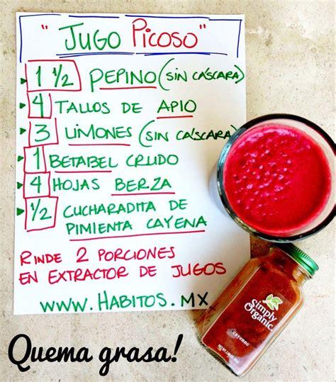 jugo quemagrasa | Juicing | Pinterest | Jugo, Salud y ...