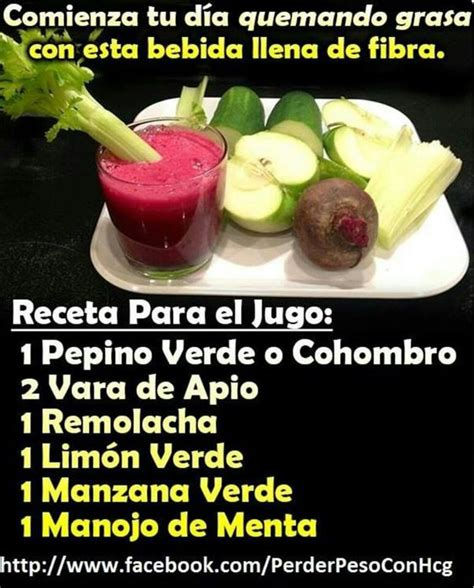 Jugo Verde para quemar grasa | Healthy drinks | Pinterest