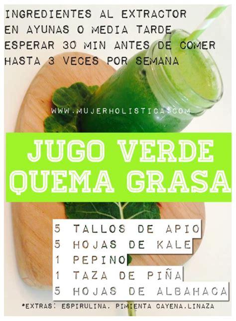 Jugo verde quema grasa, programa quema grasa | JUGOS ...