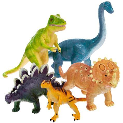 Jumbo Dinosaurs Dino Figurines 5 pc Playset - Educational ...