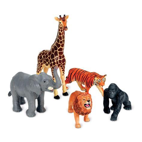 Jumbo Jungle Animals 5 pc Safari Animals Playset ...