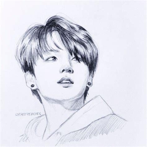 Jungkook Pencil Sketch | Lunatic [K] Squared. | Pinterest ...