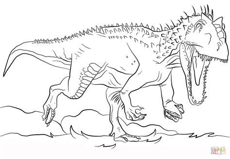Jurassic Park Indominus Rex coloring page | Free Printable ...