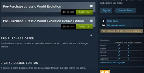Jurassic World evolution Denuvo Confirmed. its obvious ...