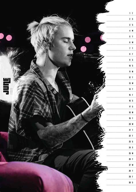Justin Bieber Official A3 Calendar 2018 - Calendar Club UK
