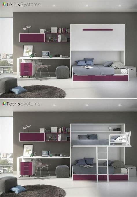 Juvenil cama alta abatible y nido 3 cajones 515 0123 ...