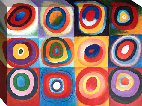 Kandinsky, Farbstudie Quadrate Reproduction Oil Paintings