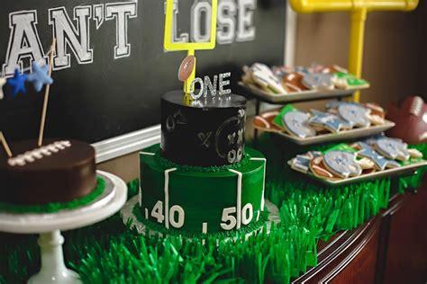 Kara s Party Ideas Football 1st Birthday Party | Kara s ...