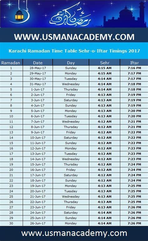 Karachi Ramadan Timings 2018 Calendar Karachi Ramazan ...
