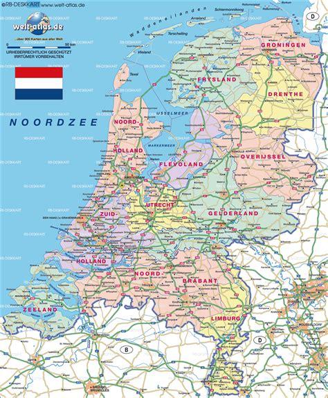 Karte von Niederlande  Land / Staat  | Welt Atlas.de