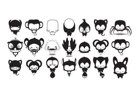 Kawaii Animales de dibujos animados paquete de vectores ...