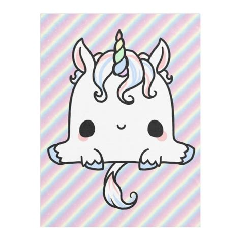 Kawaii Unicorn Blanket | Zazzle.com