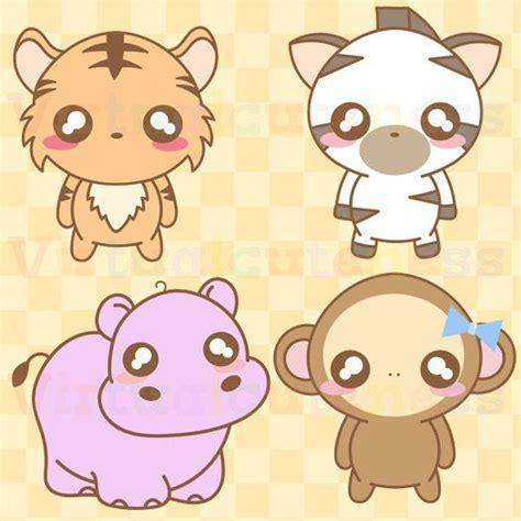 Kawaii Zoo Animals Clipart - Cute, Chibi Animals, Zoo ...